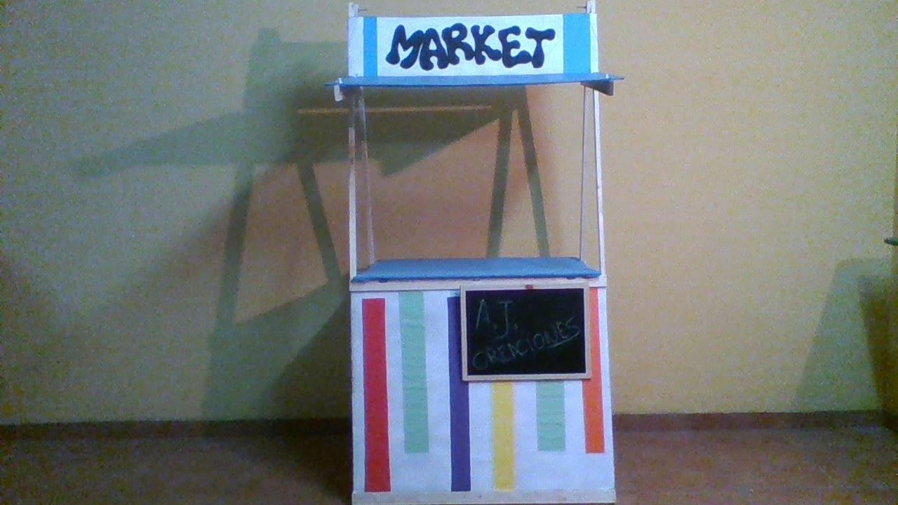 Como hacer un mini mercado mini market youtube for Como fabricar un kiosco de madera