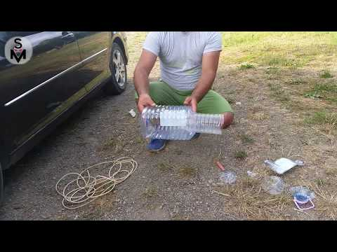 how to make a fish trap with a bottle