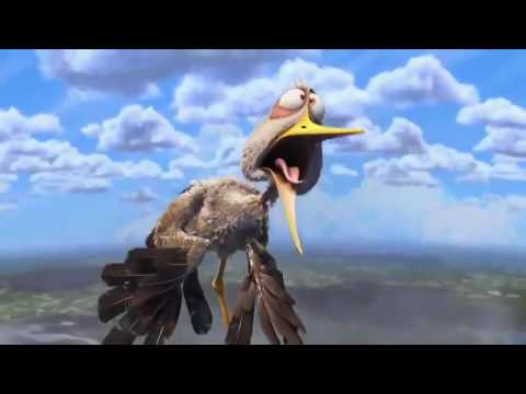 Stork Bird Carrying Baby - Flamingovideo