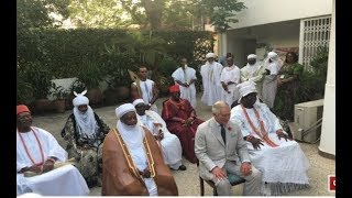 Ooni of Ife, Emir of Kano, Sultan, Omo N'Oba Ewuare II, gave Prince Charles a Royal welcome