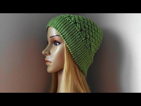 How To Crochet A Basket Weave Hat, Lilu's Handmade Corner Video # 96