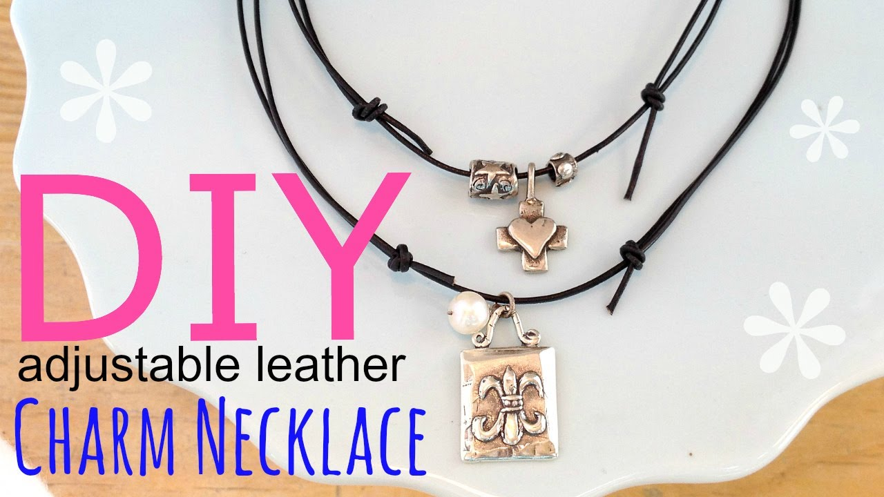 Diy Adjustable Charm Necklace Easy By Michele Baratta