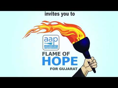 Flame Of Hope for Gujarat - Invite Address at Jalaram Temple, Wembley, London.