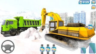 City Snow Blower Truck Excavator Snow Plow (by Game Scapes Inc) Android Gameplay [HD]