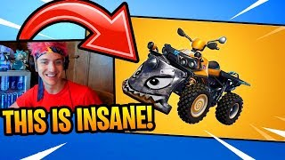 NINJA REACTS to *NEW* QUADCRASHER VEHICLE!!! (FIRST TIME) Fortnite FUNNY and EPIC Moments