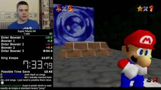 (10:49) Super Mario 64 1 star speedrun
