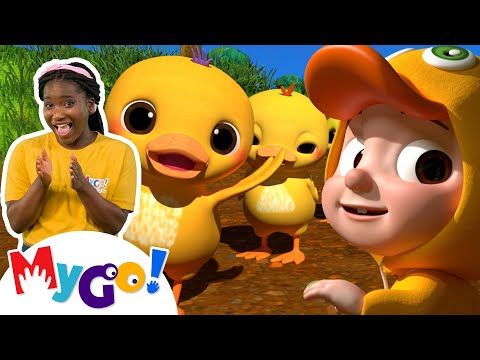 Ten Little Duckies   MyGo! Sign Language For Kids   CoComelon - Nursery Rhymes   ASL