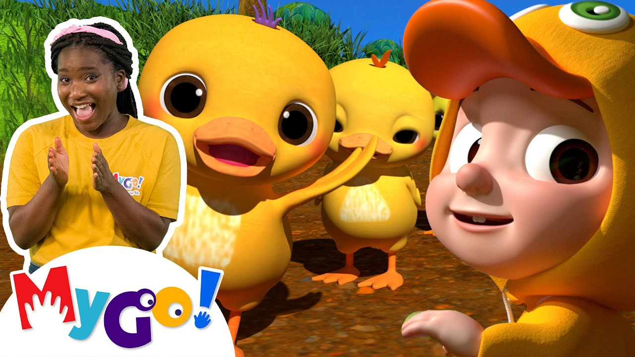 Ten Little Duckies | MyGo! Sign Language For Kids | CoComelon - Nursery Rhymes | ASL