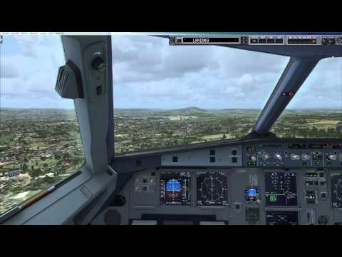 FSX [HD] Landing at LSZH Zurich airport on Airbus A320