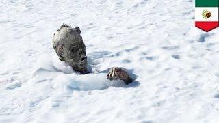 メキシコ最高峰の火山であり、雪山のオリザバ山でミイラが発見されてい...