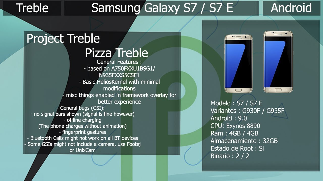 Project Treble - Pizza Treble V1 0 - Samsung Galaxy S7/S7Edge