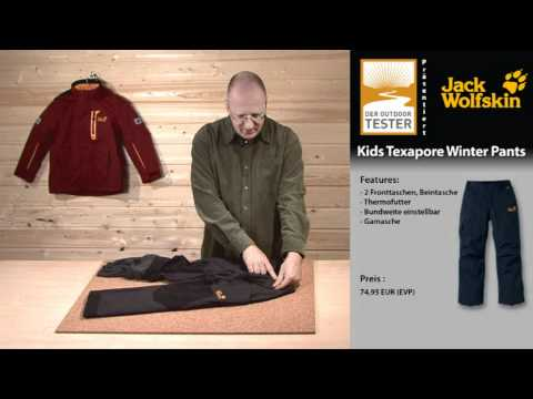 Test Jack Wolfskin Kids Texapore Winter Pants YouTube