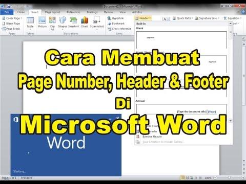 Cara Membuat Header, Footer dan Page Number di Ms. Word ...