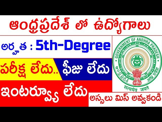 Social Welfare Department Recrruitment 2018 | Kadapa Backlog Vacancies 2018 | Latest Jobs In AP