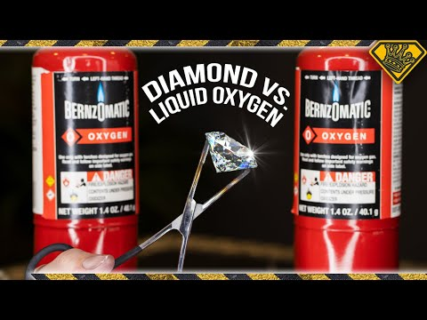 Melting Diamonds with Oxygen