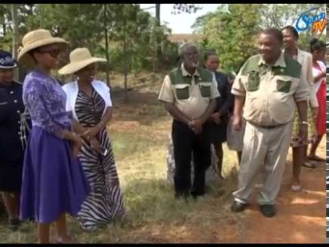Lesotho Queen Masente Mahoto Seeiso in Swaziland for a tour.