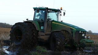 Best Of John Deere 8530 | Pure Sound | Mudding, Stucks, Pulling & Working Hard | Danish Agriculture