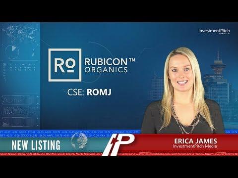 Rubicon Organics Inc. (CSE:ROMJ), New Listing
