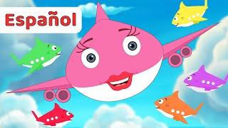 Las Mejores Canciones de Tiburón Bebé Aviones Para Niños   Turu Duru +Recopilación