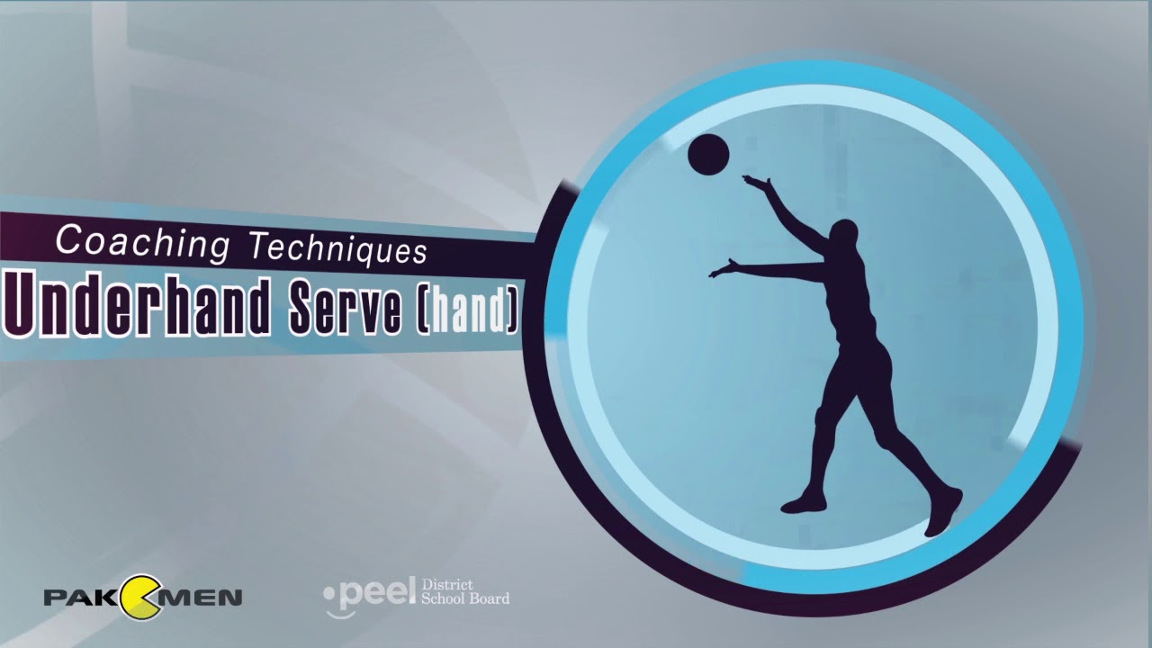 How To Perform An Underhand Serve In Volleyball Lesson 4 Youtube