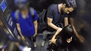 Discussão em público no elevador