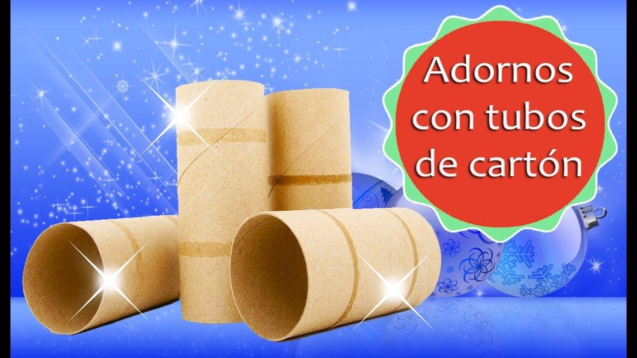 10 Adornos Navidenos Con Tubos De Papel Higienico Reciclaje