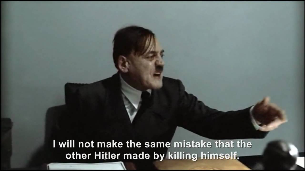 Hitler is informed he died on the 30th April 1945