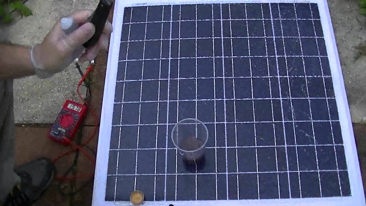 repair solar panel glass how to youtube. Black Bedroom Furniture Sets. Home Design Ideas