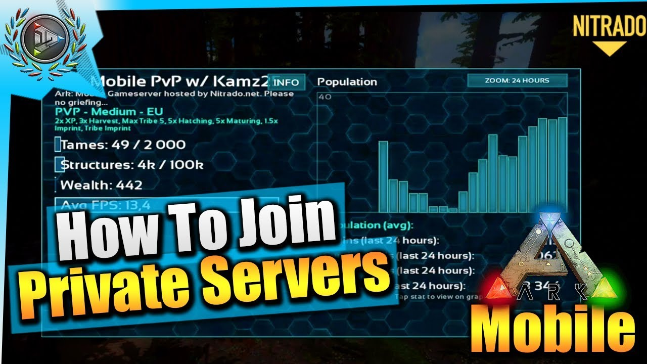 Ark Mobile| How To Join Private Servers/Activate Admin Commands| iOS  v1 1 01/Android Update Patch