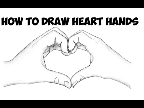 How To Draw Heart Hands Making A Heart Easy Step By Step Drawing
