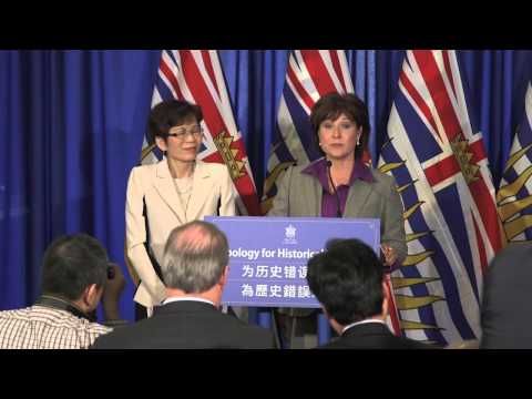 Formal Apology To Chinese Canadians