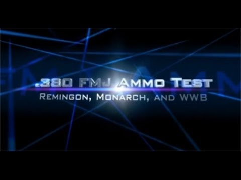 .380 ACP ammo test: three types of Full Metal Jacket FMJ bullets in ClearBallistics gel.
