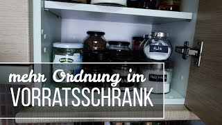 Mit wenig Geld mehr Ordnung im Küchenschrank - DIY #1