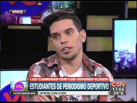 C5N - VIVA LA TARDE: ENTREVISTA A ESTUDIANTES DE PERIODISMO DEPORTIVO