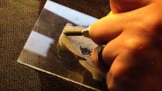 Glass Engraving A Border Terrier