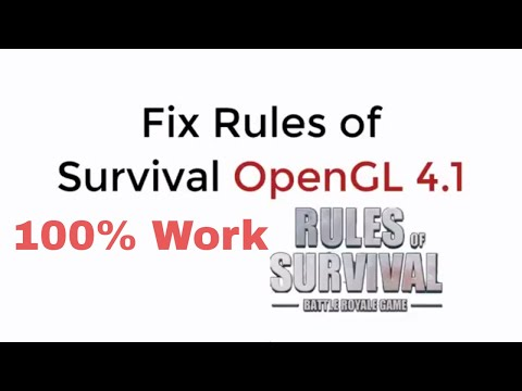 Rules of Survival OpenGL 4.1 FIX 100% Working UPDATED