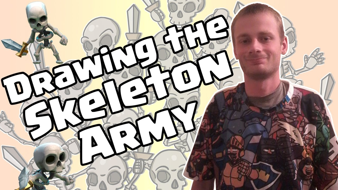 how to draw a clash royale skeleton army