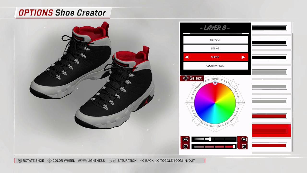 dd68333537d NBA 2K18 Shoe Creator - Air Jordan 9