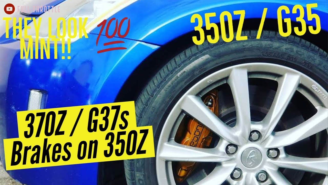 Akebono Brakes on 350Z Install With CZP Adaptors G37s 370Z Brakes On 350Z  or G35