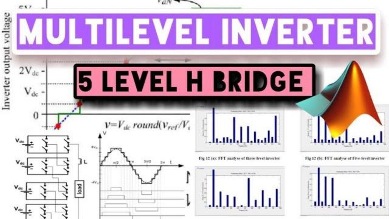 5-Level Cascaded H - Bridge, Multilevel Inverter MATLAB Simulation
