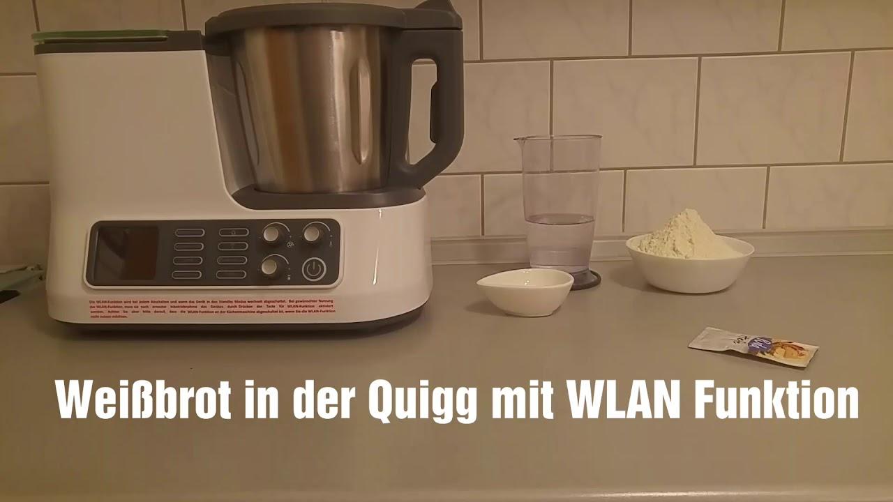Quigg / Ambiano Küchenmaschine mit WLAN Funktion, Programm Kneten ...