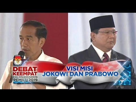 Penyampaian VISI MISI JOKOWI & PRABOWO - Debat Capres PART 1