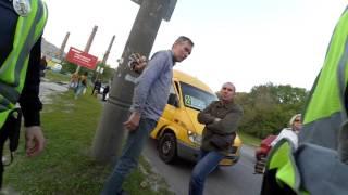 Житель Днепра наказал дерзкого АТОшника (1 мая. Днепропетровск)