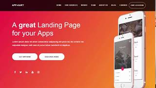 #1 Full Screen Landing page website design from very scratch- ( Html 5 & css 3 )