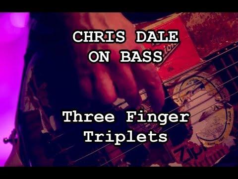 CHRIS DALE ON BASS - Three Finger Triplet Picking