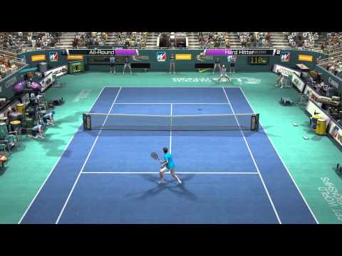Virtua Tennis 4 Federer vs Jim Courier on US Cup