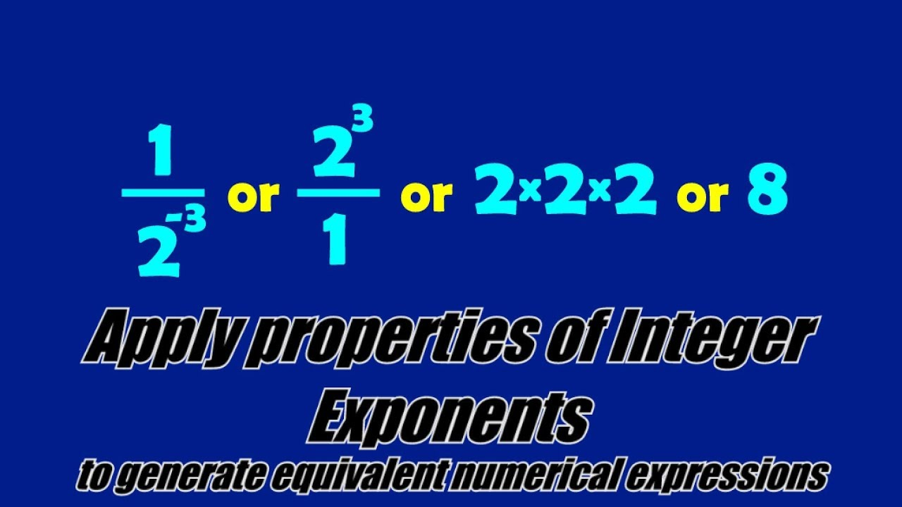 small resolution of Integer Exponents (solutions
