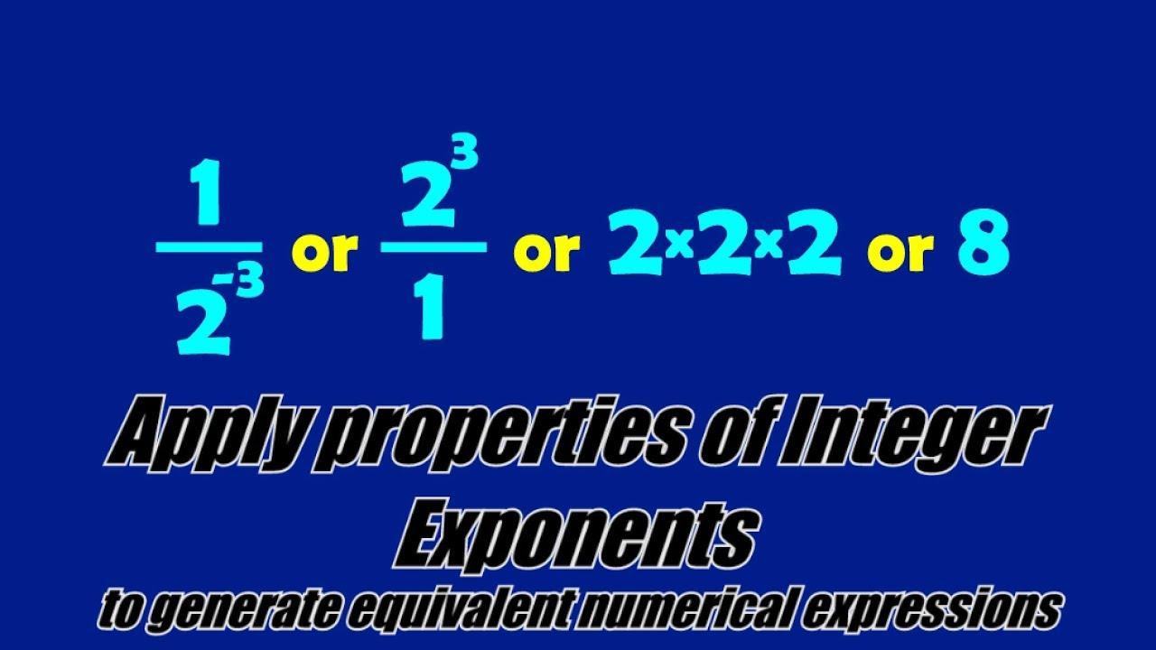 medium resolution of Integer Exponents (solutions