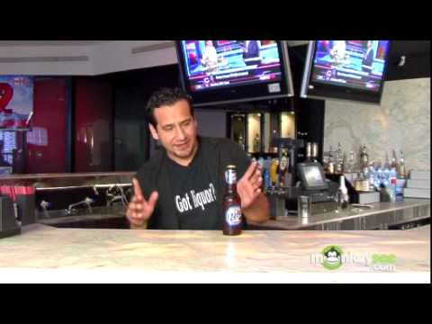 Flair Bartending - Opening a Beer with Your Forearm