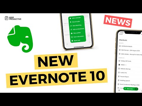 New Evernote 10 for iOS arrives